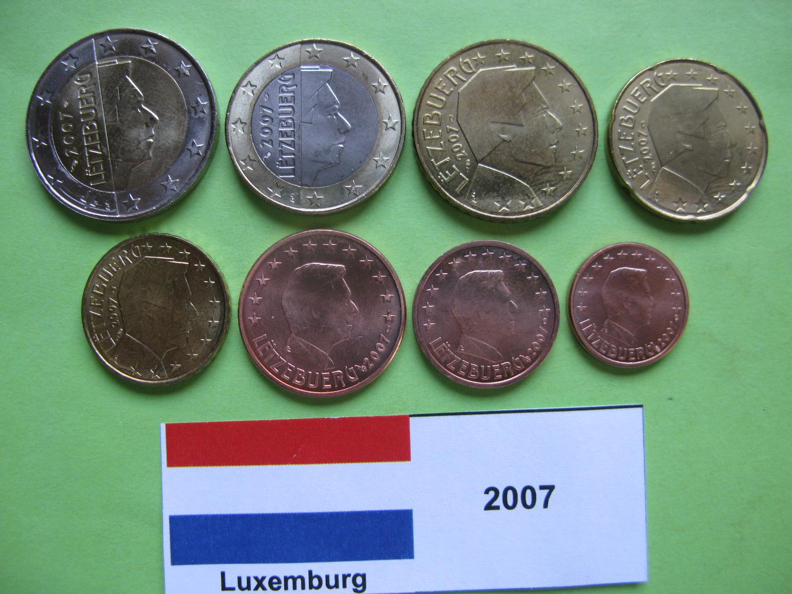 Люксембург набор евро  2007  UNC