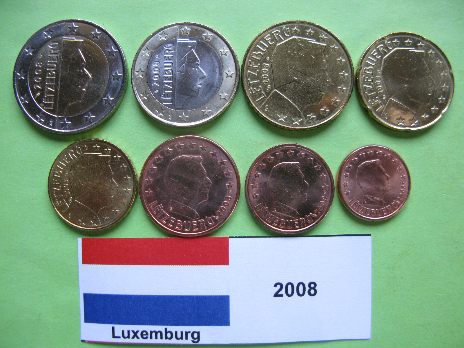 Люксембург  набор евро 2008  UNC