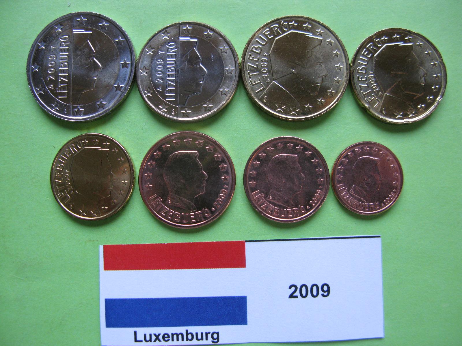 Люксембург  набор евро 2009  UNC