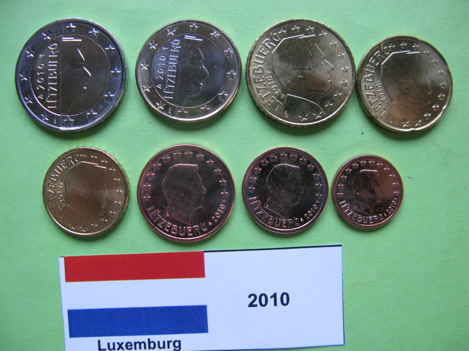 Люксембург  набор евро 2010  UNC