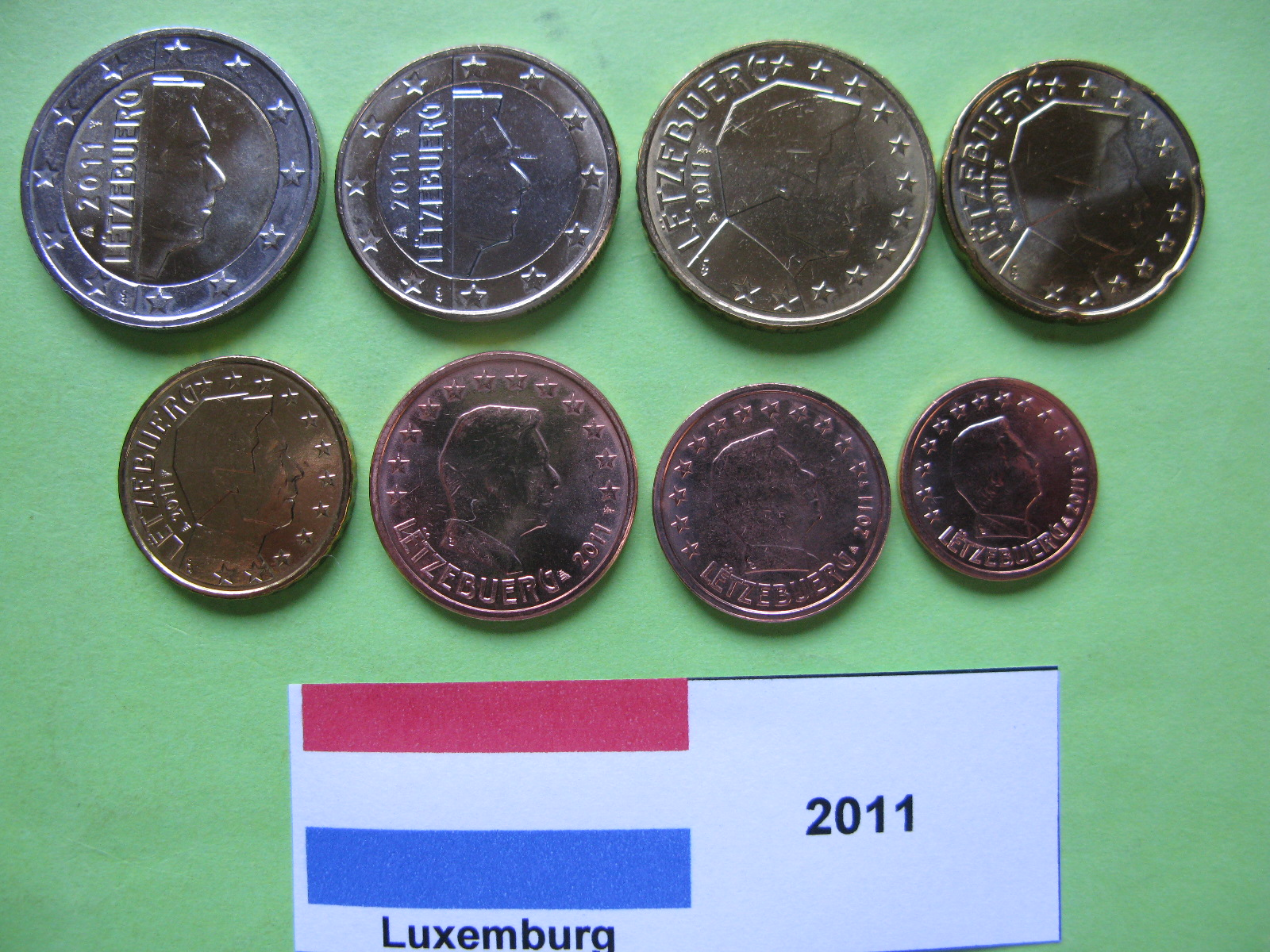 Люксембург  набор евро 2011  UNC