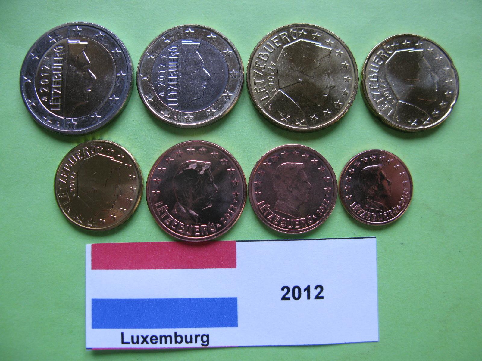 Люксембург  набор евро 2012  UNC