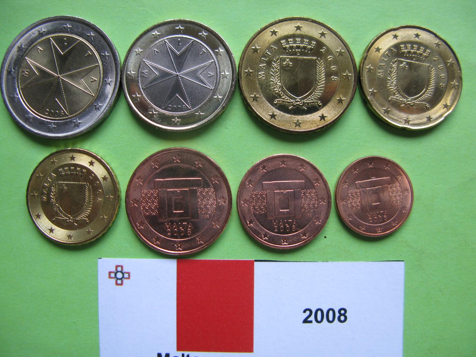 Мальта набор евро 2008 UNC