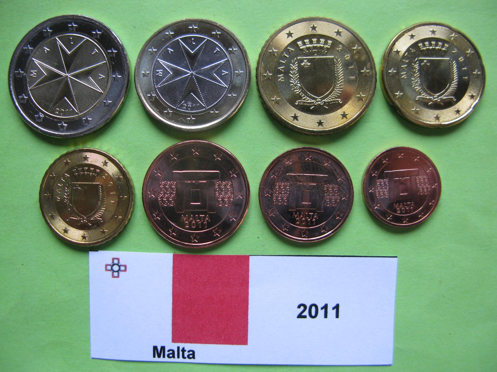 Мальта набор евро  2011 UNC