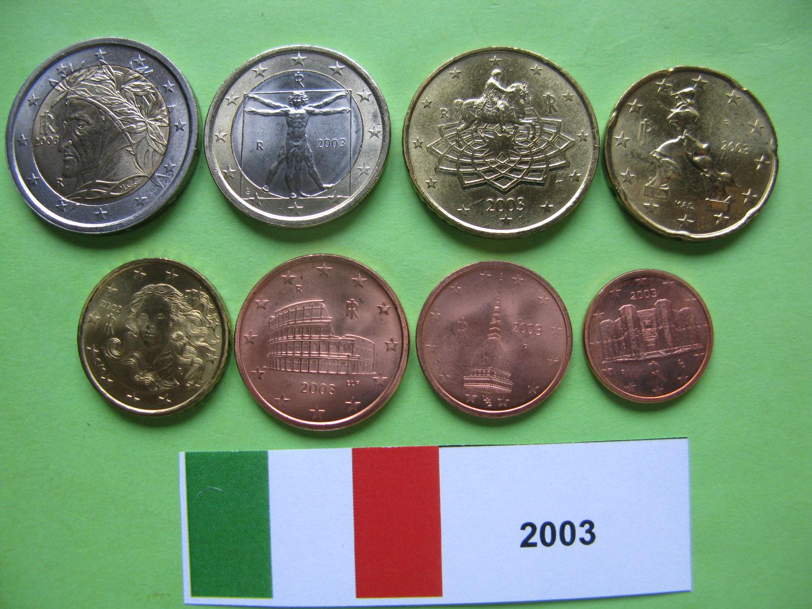 Италия набор евро 2003 UNC