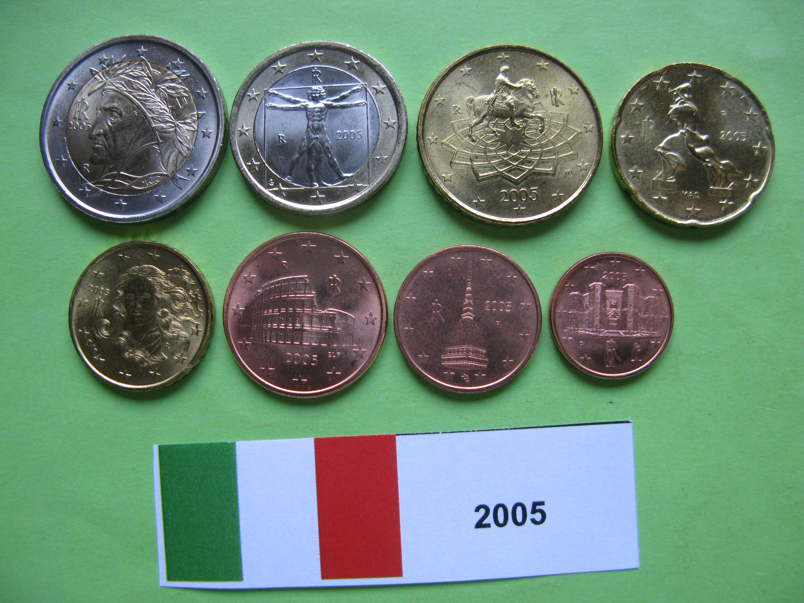 Италия набор евро 2005 UNC