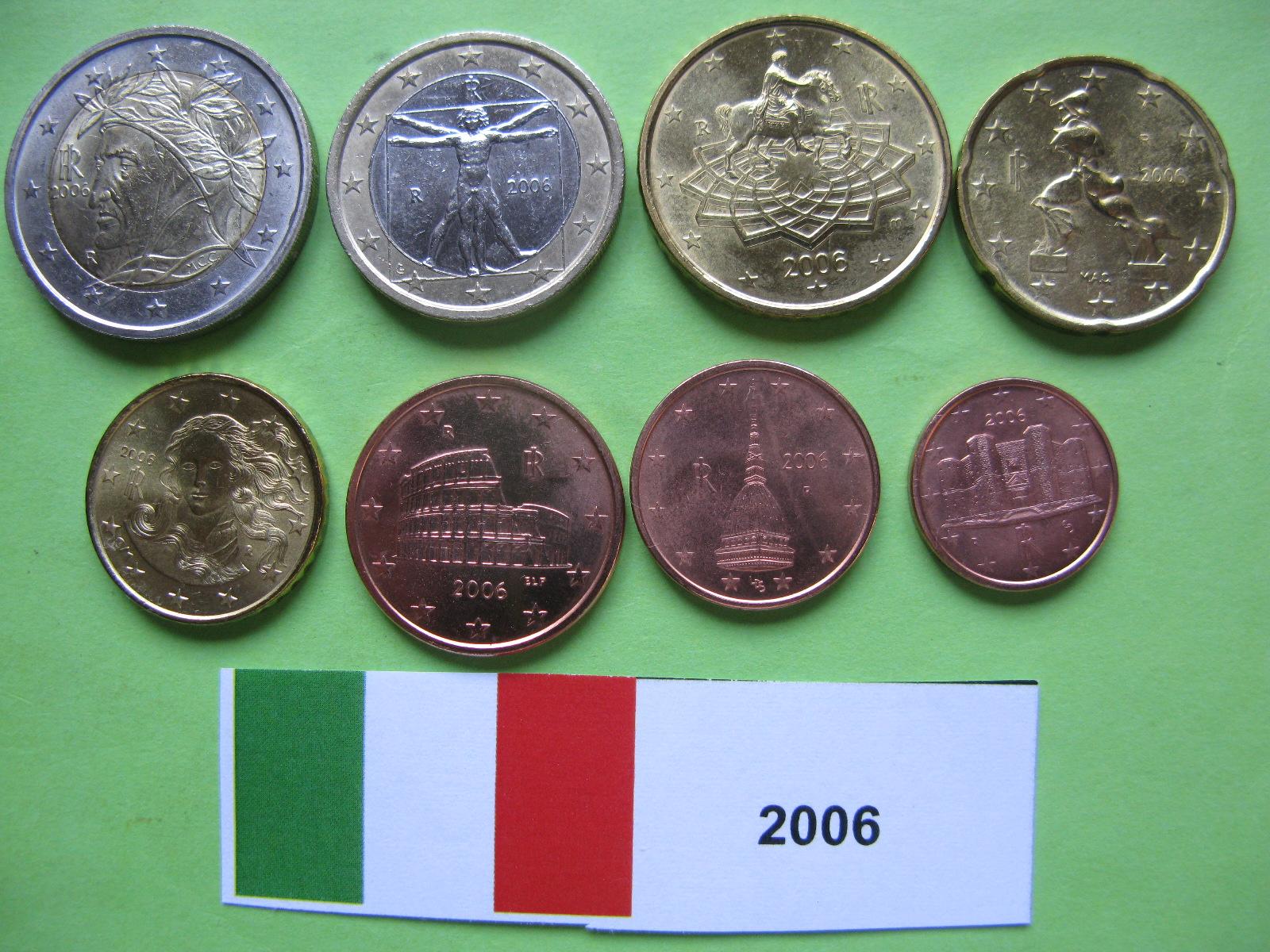 Италия набор евро 2006 UNC